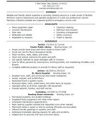 Cover Letter Tips For Maintenance And Janitorial Resume Oliviajane Co