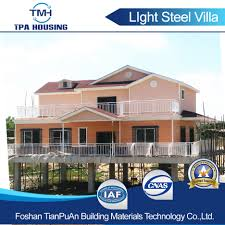 Light Steel Structure Prefabricated Villa House for Big Family TPA-V50