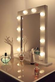 Makeup Mirror With Led Lights Diy Vanity Mirror With Led Lights Bathroom Small Simple