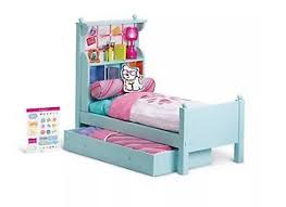 American Girl doll BOUQUET wood Trundle BED SET & BEDDING Comforter ...