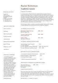 Academic Resume Templates Inspiration Academic CV Template Curriculum Vitae Academic Cvs Student