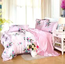 satin silk bedding sets comforter duvet covers bedspreads twin full queen king size bedroom decoration pink