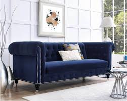 blue velvet furniture. Modren Furniture Navy Blue Velvet Sofa For Blue Velvet Furniture