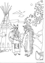 Personable Native American Coloring Pages Printable Printable In