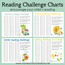 Summer Book Reading Chart Reading Challenge Charts