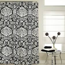 m style graphic shower curtain in black  msblk