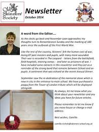 october newsletter ideas newsletter october 2014 by skinners school issuu