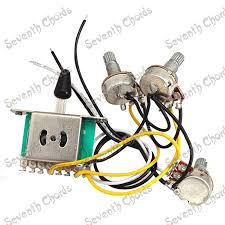 popular guitar wiring harness buy cheap guitar wiring harness lots Wiring Harness Guitar a set guitar wiring harness prewired 1 volumes & 2 tones 3 pcs 500k pots 5 wiring harness guitar gibson es-137