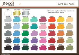 Vinyl Color Sample Chart For Sale Stick On Wall Art Personalized Wall Decals Color Sample Pallet