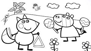 Shining Peppa Pig Coloring Games Book L Pages For Children