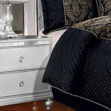 luxury jacquard 7 piece black bedding