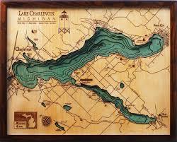 Vineyard Lake Depth Chart Bathymetric Map Lake Charlevoix Michigan In 2019 Map