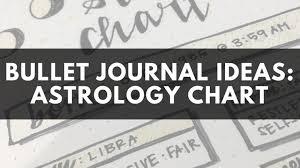 Bullet Journal Ideas Astrology Chart Kaijumaddy