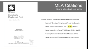 Mla Citation Of A Book