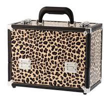 danielle cosmetic trunks makeup case leopard