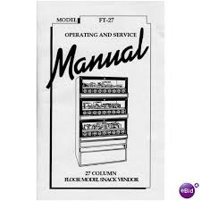 Vending Machine Manual Enchanting USERSERVICE MANUAL For EDINA FT48 Mechanical SnackCandy Vending