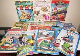 Thomas the train coloring book ~ giant 13 x 16 coloring and learning activity pad with thomas and friends stickers for kids toddlers (thomas the train toys). 16 Sticker Coloring Book Lot Thomas Friends Chuggington Trains Tank Engine Set Ebay