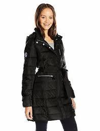 U S Polo Assn Womens Long Puffer Jacket W Belt Choose