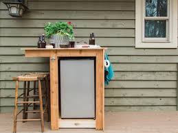 diy outdoor fridge bar