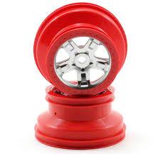<b>Диски SCT</b> Satin Chrome Red Beadlock Wheels 2.2/3.0 2pcs ...