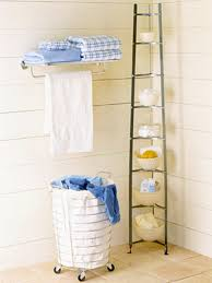 corner storage is a must for any little bathroom