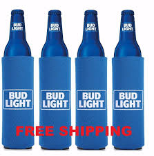 Coors Light 16 Oz Aluminum Bottle Koozie 4 Authentic 2016 Bud Light 16oz Retro Beer Slim Bottle Can Koozie Coolie Cruise