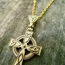 gold celtic cross