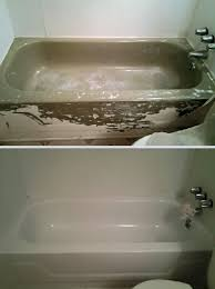 this is a bathtub that the home owner used an over the counter diy refinishing on these roll on coatings are not designed to last and will fail