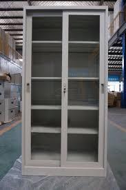 full height steel filing cabinet glass sliding door