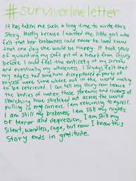 Read The Beautiful Love Letters Sexual Assault Survivors Are Writing ...