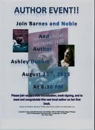book signing flyer ashley dukart novelist book signing