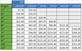 Calendered Vinyl Price Chart Cricut Vinyl Price Chart