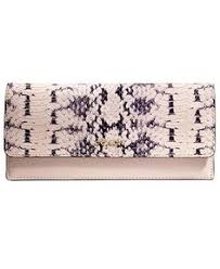 COACH MADISON SOFT WALLET IN TWO TONE PYTHON EMBOSSED LEATHER - Coach  Handbags - Handbags   Accessories - Macy s