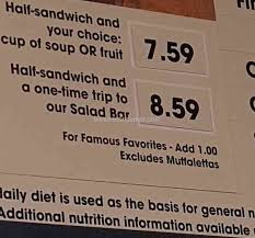jasons deli i was over charged
