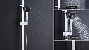 Bonade Duschsystem Thermostat Regendusche Duschset Mit