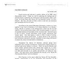 satirical essay examples examples of satire essays of a satire  satirical essay examples examples of satire essays of a satire essay who and what are the com
