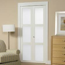 reliabilt white lite solid core tempered frosted glass bifold closet door common actual