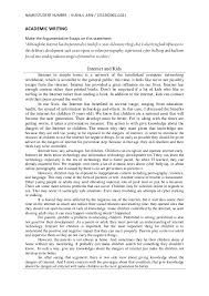argumentative essay  internet out parentscontrol 4