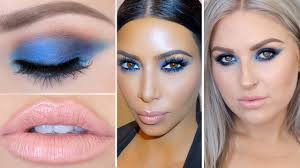 kim kardashian inspired blue eyeshadow celebrity makeup tutorial you