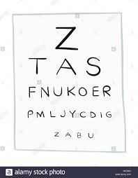 Eye Chart Letters Vector Illustration Eye Test Chart Letters Hand Drawn
