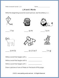 4th grade master spelling list (36 weeks/6 pages) view master spelling list this master list includes 36 weeks of spelling lists, and covers sight words, academic words, and 4th grade level appropriate patterns for words, focusing on word families, prefixes/suffixes, homophones, compound words, word. Phonics Worksheet To Reinforce Initial Sounds