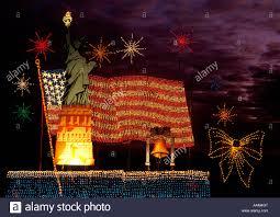 Liberty Light Show Liberty State Park Fireworks Stock Photos Liberty State