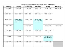 College Class Scheduler College Schedule Templates 12 Free Word Excel Pdf Format