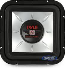 pyle plsq12d 12 plsq red label square car subwoofer product pyle plsq12d