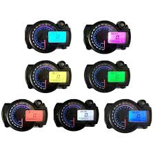 <b>Motorcycle</b> DC <b>12V</b> 7 Color LCD Digital Display Tachometer ...