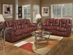 Transitional Living Room Furniture Burgundy Leather Transitional Living Room W Recliner Mechanism