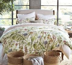 thistle floral print organic duvet cover u0026 sham organic duvet covers o75