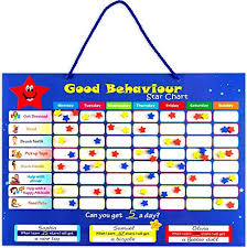 5 Day Reward Chart Amazon Com Chore Chart For Kids Good Behavior Star Chart