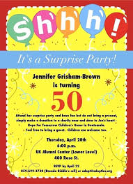 free birthday party invitations wording 50th surprise invitation ideas