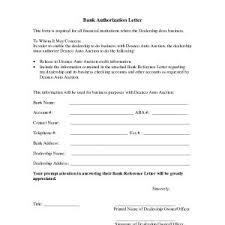 Authorization Letter Sample To Process Documents New 10 Bank